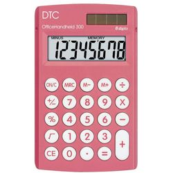 Calculadora-DTC-Office-Handheld-300-Rosa