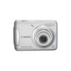 "Camera-Digital-Canon-PowerShot-A480-Prata-LCD-2.5""-10-MP-Zoom-Optico-3.3X-Face-Detection"