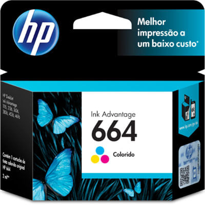 Cartucho-Hp-F6v28ab-Color-664