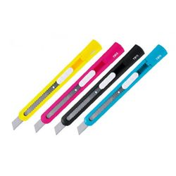 estilete-plastico-estreito-office-color-tris