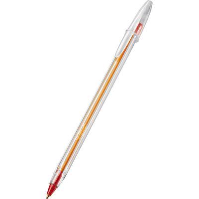 caneta-esferografica-fina-cristal-vermelha-bic