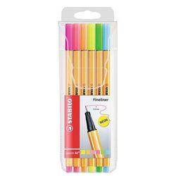 caneta-point-88-6-cores-neon-sortidos-stabilo