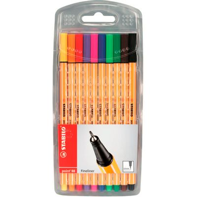 caneta-point-88-10-cores-sortidos-stabilo
