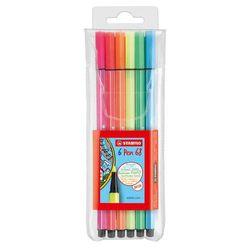 caneta-pen-68-6-cores-neon-sortidos-stabilo