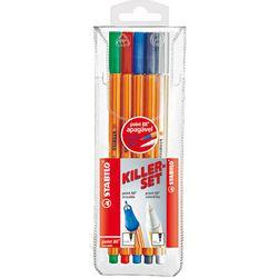 caneta-point-88-4-cores-apagavel-stabilo