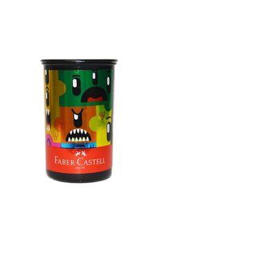 apontador-com-deposito-tubo-monster-puzzle-faber-castell