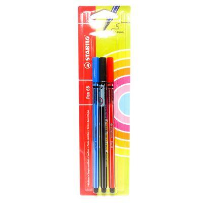 caneta-pen-68-3-blister-com-3-cores-stabilo