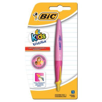 caneta-esferografica-evolution-kids-rosa-bic