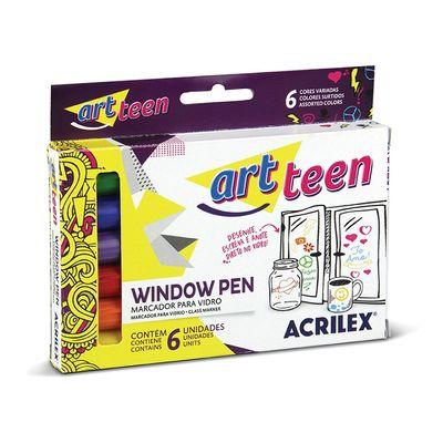 marcador-para-vidro-window-pen-art-teen-com-6-unidades-acrilex