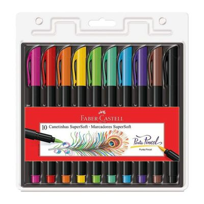 caneta-hidrografica-ponta-pincel-super-soft-10-cores-faber-castell-