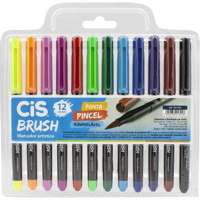 caneta-ponta-pincel-aquarelavel-cis-12-cores