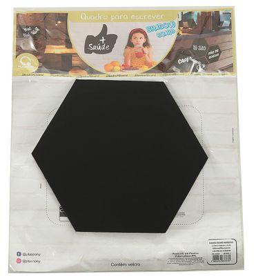 quadro-para-escrever-pp-shadow-board-velcro-Hexagono-preto-plascony