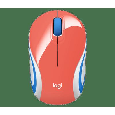 Mini-Mouse-Sem-Fio-Logitech-M187-Coral-