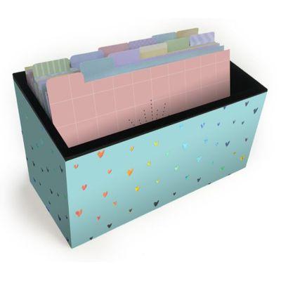 fichario-de-mesa-coracao-holografico-fina-ideia