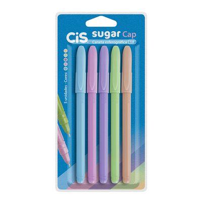 caneta-sugar-cap-1.0m-c-5-cores-pastel-cis